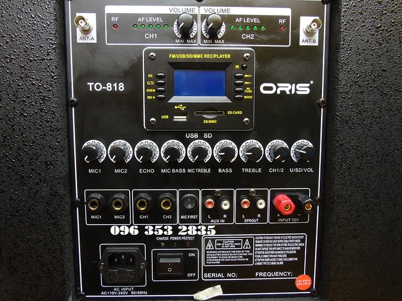 Loa kéo di động ORIS TO818