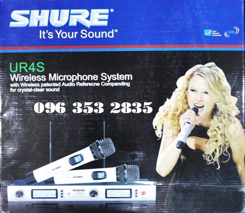 SHURE UR4S micro khong day